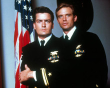 Charlie Sheen & Michael Biehn in Navy SEALS Poster and Photo