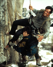 Sylvester Stallone & Janine Turner in Cliffhanger Poster and Photo