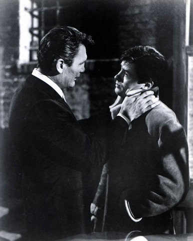Alain Delon & Jack Palance in Once a Thief Poster and Photo