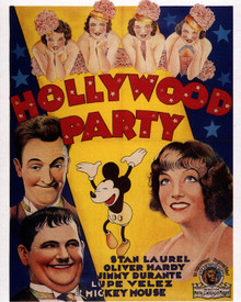 Poster & Stan Laurel in Hollywood Party (Laurel & Hardy) Poster and Photo