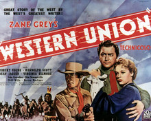 Poster & Randolph Scott in Western Union Poster and Photo
