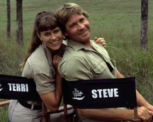 Steve Irwin & Terri Irwin in The Crocodile Hunter: Collision Course Poster and Photo