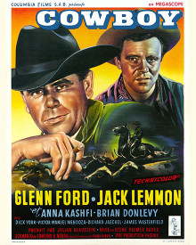 Poster & Glenn Ford in Cowboy Poster and Photo