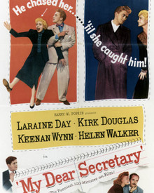 Poster & Kirk Douglas in My Dear Secretary Poster and Photo