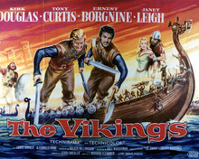 Poster & Kirk Douglas in The Vikings Poster and Photo