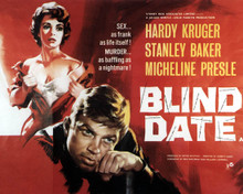 Poster & Hardy Kruger in Blind Date aka Chance Meeting (1959) Poster and Photo