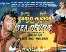 Poster & Rock Hudson in Sea Devils Poster and Photo