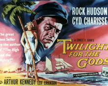 Poster & Rock Hudson in Twilight for the Gods Poster and Photo