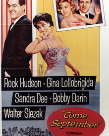 Poster & Rock Hudson in Come September Poster and Photo