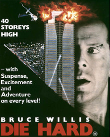 Poster & Bruce Willis in Die Hard Poster and Photo