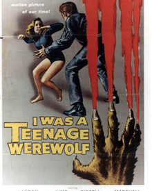 Poster & Michael Landon in I Was a Teenage Werewolf Poster and Photo