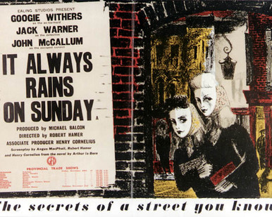 Poster & Googie Withers in It Always Rains On Sunday Poster and Photo