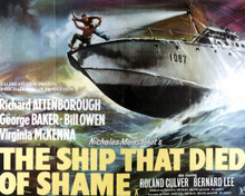 Richard Attenborough & George Baker in The Ship That Died Of Shame Poster and Photo