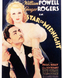 Poster & Ginger Rogers in Star of Midnight Poster and Photo