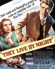 Poster & Farley Granger in They Live By Night Poster and Photo