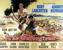 Poster & Burt Lancaster in The Unforgiven Poster and Photo
