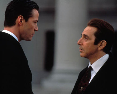 Al Pacino & Keanu Reeves in Devil's Advocate Poster and Photo