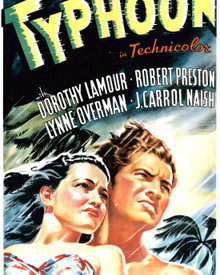 Poster & Dorothy Lamour in Typhoon Poster and Photo