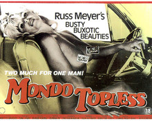 Poster & Russ Meyer in Mondo Topless Poster and Photo