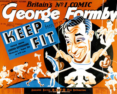 Poster & George Formby in Keep Fit Poster and Photo