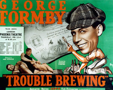 Poster & George Formby in Trouble Brewing Poster and Photo