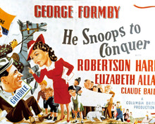 Poster & George Formby in He Snoops To Conquer Poster and Photo