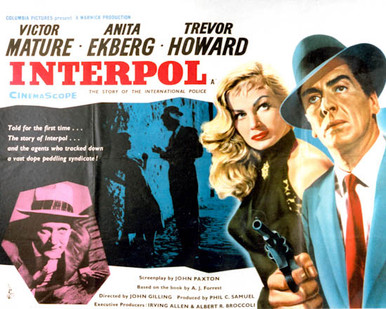 Poster & Victor Mature in Interpol aka Pickup Alley Poster and Photo