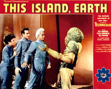 Poster & Faith Domerque in This Island Earth Poster and Photo