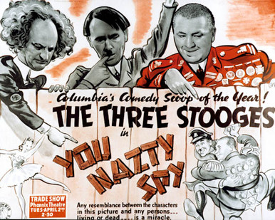 Poster & Curly Howard in You Nazty Spy! Poster and Photo