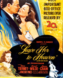 Poster & Gene Tierney in Leave Her to Heaven Poster and Photo