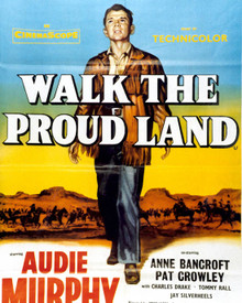 Poster & Audie Murphy in Walk The Proud Land Poster and Photo