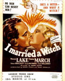 Poster & Veronica Lake in I Married A Witch Poster and Photo