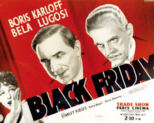 Poster & Boris Karloff in Black Friday Poster and Photo