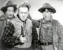 Moe Howard & Larry Fine in The Outlaws Is Coming aka The Three Stooges Meet the Gunslinger Poster and Photo