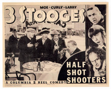 Moe Howard & Larry Fine in Half-Shot Shooters Poster and Photo
