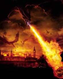 Artwork in Reign of Fire Poster and Photo