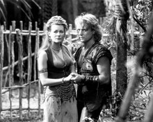 Michael Hurst & Leslie Wing in Hercules: The Legendary Journeys Poster and Photo