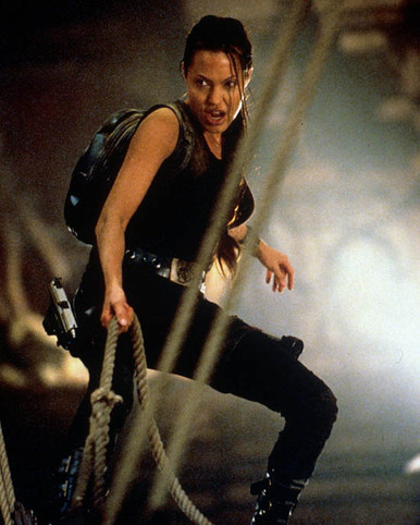Angelina Jolie in Lara Croft: Tomb Raider aka Tomb Raider Poster and Photo