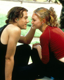 Julia Stiles & Heath Ledger in 10 Things I Hate About You Poster and Photo