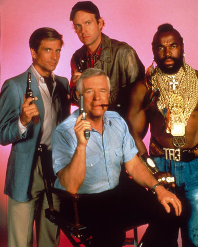 George Peppard & Mr. T Photograph and Poster - 1020600 Poster and Photo