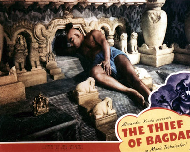 Rex Ingram in The Thief of Bagdad (1940) Poster and Photo