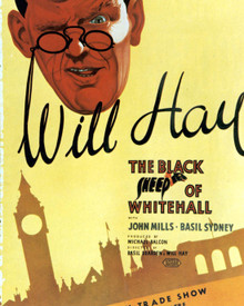 Will Hay & John Mills in The Black Sheep of Whitehall Poster and Photo