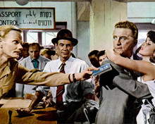 James Donald & Kirk Douglas in Cast a Giant Shadow Poster and Photo