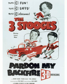 Moe Howard & Larry Fine in Pardon My Backfire Poster and Photo