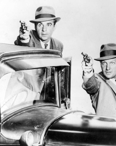 Paul Picerni & Robert Stack in The Untouchables (1959) Poster and Photo