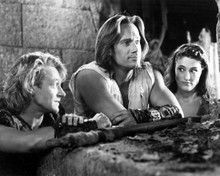 Michael Hurst & Rebecca Hobbs in Hercules: The Legendary Journeys Poster and Photo