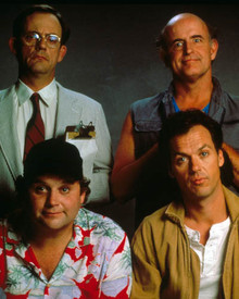Michael Keaton & Christopher Lloyd in The Dream Team Poster and Photo