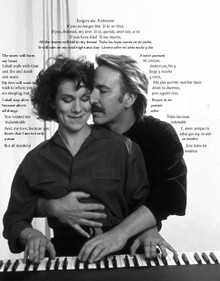 Juliet Stevenson & Alan Rickman in Truly, Madly, Deeply (with poem) Canvas