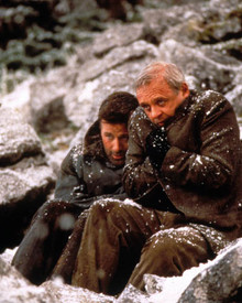 Anthony Hopkins & Alec Baldwin in The Edge Poster and Photo