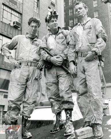 Harold Ramis & Dan Aykroyd in Ghostbusters Poster and Photo